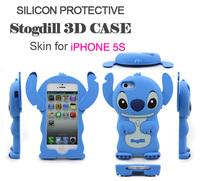 Super cute!Stitch Silicone Four  colors Case for  IPhone 5 5S mobile phone case and mobile phone cover