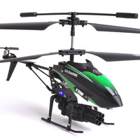 FREE SHIPPING WL toys v398 IR 3.5CH Missile launch 360 Degree Rotation RC Helicopter /rc toys best gift with GYRO