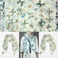 Wholesale 2013 Autumn Season Fashion Scarf Rayon Butterfly Deisgn 170*60 cm, Item No.: S00004