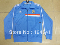 Real Madrid Brand 2013-2014 Tracksuit Sport Suits For Men Long Sleeve Jacket With Traning Soccer Jacket Pocket with zipper