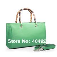 TOSSO brand  purple 323660  Bamboo  Leopard 2014 new  fashion women design original cow leather  handbag top quality wholesale
