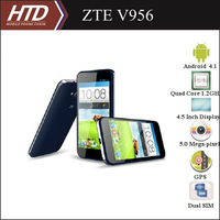 Free European Adapter ZTE V956 4.5 Inch Quad Core 1.2GHz Multi-language Android 4.1 Smart Phone With 32G SD Card Option