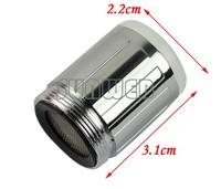 dropShipping 10pcs/Lot Light Temperature Sensor RC-F03 Three Color Temperature Control Water Glow Shower LED Faucet 4585