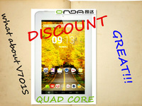 """Discount!! Onda v701s quad core  7"""" Android 4.2  8GB ROM Capacitive Tablet PC  1024*600  Front camera support wifi  3g external"""