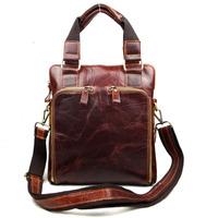 Vintage Oil Wax Leather Nubuck Leather Cowhide Genuine Full Grain Leather Men Handbag Shoulder Bag Messenger Bag Bags Men J8118