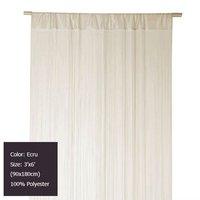 Ecru String Fringe Curtain Panel 3 ft X 6 ft (90x180cm)
