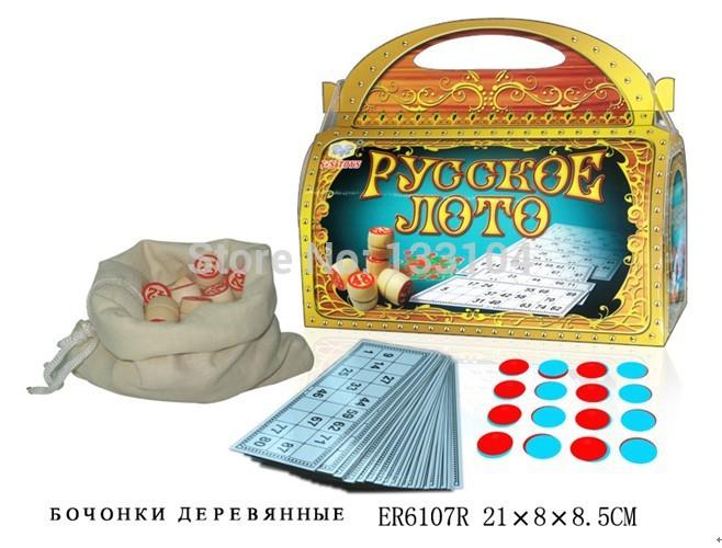 Russian Bingo Russian Loto Board Games Family Games Chess Game Free Shipping(China (Mainland))