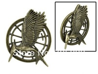 Hot Movie Collection Jewelry Catching Fire Bird Bronze Pin Free Shipping
