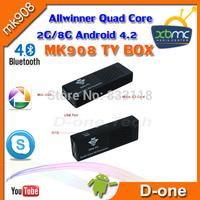 XBMC Google TV Stick Smart Android TV Box 2GB RAM Built-in Bluetooth Skype  IPTV Mini PC OS 4.2. For MK 908 Smart tv box