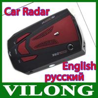 "Hot Sale V7 16 Band 360 Degree Time & Speed 1.5"" LCD Display Digital Car Vehicle Speed Radar Laser Detector Detection E-dog"