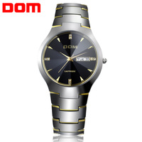 Lovers'  Men Wrist Watch Quartz Hours Best Fashion Tungsten Steel Auto Date Water Resistant Business High Quality Gift 698