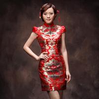 New 2014 Female Women Dress Brocade bride cheongsam fashion quality Formal dress chinese traditional dress qipao dress