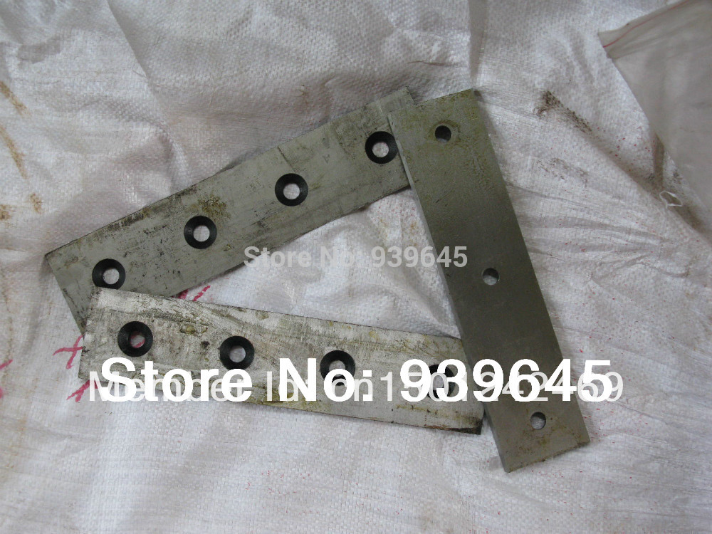Free Shipping 2x Chipper Blade and 1x bed blade for parts wood chipper model WC-6 WC-8(China (Mainland))