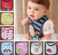 100% Cotton 9pcs Baby bib saliva towels, Baby Waterproof bib