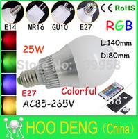 rgb lamp e27  rgb remote Sale 30W E27 E14 RGB LED 16 Changeable Colors Light Lamp Bulb 85-265V with Remote Control free shpping