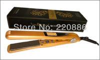 "1"" Professional Vibrate Plates Hair Straightener Digital Ionic Titanium Plates Flat Iron GIC-HS105 Bivolt 110-240V Free Shipping"