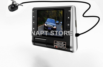 "Dual camera Car DVR recorder K20 1280*720P G-sensor Rear Camera Camcorder Night Vision 2.7"" LCD PC Camera HD Free shipping"