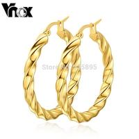 18K gold hoop earrings for women christmas gift  stainless steel earring