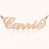 Freeshipping --Personalized 925 Silver  Name Necklace Initials  CARRIE font Customized Name Jewelry Great Gift TO US 2 WEEKS