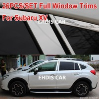 high quality Subaru xv full window trim decoration stainless steel trims for car windows decoration reflective strips 26pcs/set