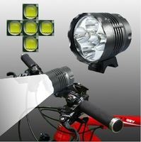 Retailer+2013 New!!Cree 5 Bulbs XML T6 6000LM Super Bright Bicyce Light/Mountain Bike Light/Road Bike Headlight+Free shipping