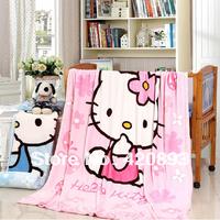 Free Shipping Super Soft Thickening Cartoon PatternCoral Fleece Blanket FL Velvet Child Blanket Bed Sheets Student Blanket