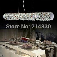 Free shipping,High power LED lamp K9 crystal pendant lamp, LED cylindrical crystal lighting for dinner room/living room/Bedroom