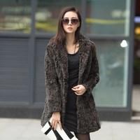 winter female rex rabbit hair medium-long fur coat overcoat slim suit collar natural  fur coat  women park free shipping