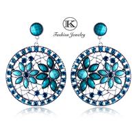 New 2014 High-Quality Fashion Jewelry Retro Earing Alloy Resin earrings pendants Bohemian Girl Big Earring Drop Earrings