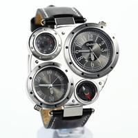 Men's sports quartz watches military watch driver wristwatch men compass thermometer  watches brand business watch