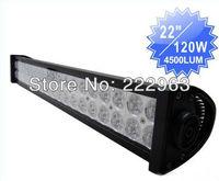 "10PCS/Lot 22"" 120w led light bar spot flood combo LED ALLOY 4WD UTE Truck Mining Camping ATV driving boat lamp lighting"