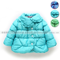 Free Shipping New Arrival Children's Clothing Winter Female Child Thermal Cotton-Padded Outerwear