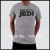 Trust me jedi star wars letter mens short-sleeve  t shirt / mens t shirts / 2013 mens sport casual t shirt