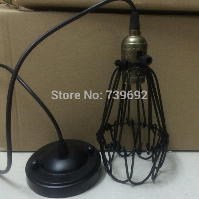 Black twisted cable Unique American Style Edison Pendant Light,Vintae Bird Cage Decoration Pendant Lamp/Lights E27/E26 110V/220V(China (Mainland))