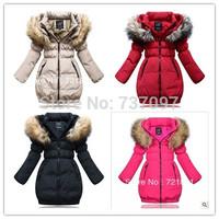 new 2014 girls winter children outwear & coat, thicken warm kids winter coat girls,fashion children down jacket, free shipping