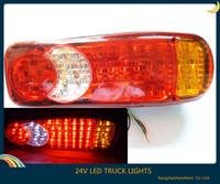Hot ! new 1pcs 24v led truck trailer stop/tail/reverse lights indicator fog light universal