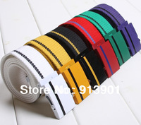Free shipping!!!minimum price 2013 Paragraph men and women lovers han edition canvas belt automatic belt buckle brand  bel