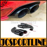 Steel V8 muffler exhaust Turbo GTS 958 Sport black Muffler Exhaust Pipe Tips for Porsche Cayenne (Fit for 2011-2014 Cayenne V8 )