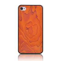 Fashion Luxury Wood Design Cases Cover for iphone 4 4G 4S High Quality