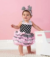 Hot sale pink color Baby dress girls princess dress tutu dress size 80 90 100 free shipping