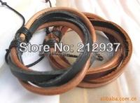 best seller wholesaler simple leather bracelet in black color KL0004