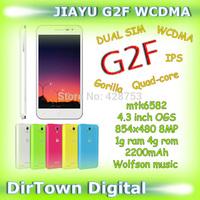 New Year Sale Cellphone JIAYU G2F WCDMA mobile phone 4.3 inch IPS 1GB RAM 4GB ROM 2200mAh MT6582 Quad Core 1.3GHz 2MP+8MP GPS