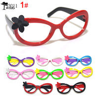Frames Free shipping ( 10pairs/lot )Wholesale cute ready to ship high quality lovely flower children glasses frame YJ3011