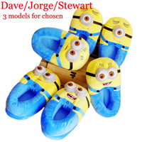 "11"" 3D Despicable Me Minion Figure Shoes Stuffed Minions Chinelo Plush Toy Home Slipper Free Size Jorge/Dave/Stewart"