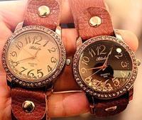 Calfskin bracelet watch Ladies watch bracelet Prepared national retro jewelry lovers' personalized watches Leather watch chain