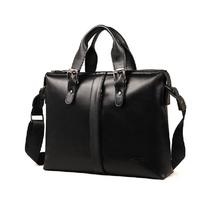 Excellent 2014 New Man Genuine Leather Handbag Fashion Business Men Messenger bag Briefcase Commercial Totes Laptop Bag