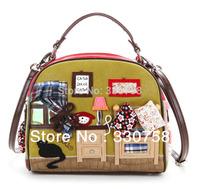 Free Shipping Retail Kemio Sweet Home Women Handbags Bolsas Desigers Brand Shoulder Small Messenger Bags New Arrival 2014 Latest