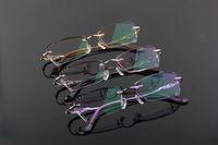 8004 RIMLESS WOMEN DIAMOND OPTICAL EYE GLASSES EYE GLASS EYEWEAR LENS METAL FRAME 2014 NEW ARRIVAL FASHION GLASSES