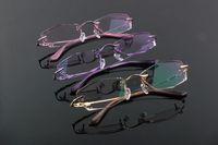 80043 WOMEN FASHION CUT DIAMOND OPTICAL EYEGLASSES EYE GLASS EYEWEAR CRYSTAL LENS METAL FRAME 2014 NEW ARRIVAL FASHION GLASSES