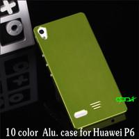 10 Colors Aluminum Metal Frame Bumper case for Huawei Ascend P6, Drop shipping